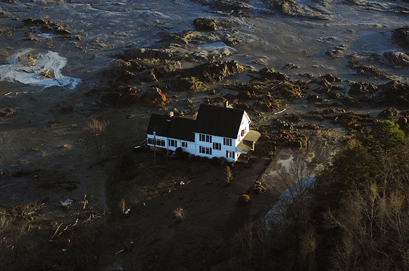 More than a billion gallons of coal ash spilled across 300 acres in Tennessee in 2008.