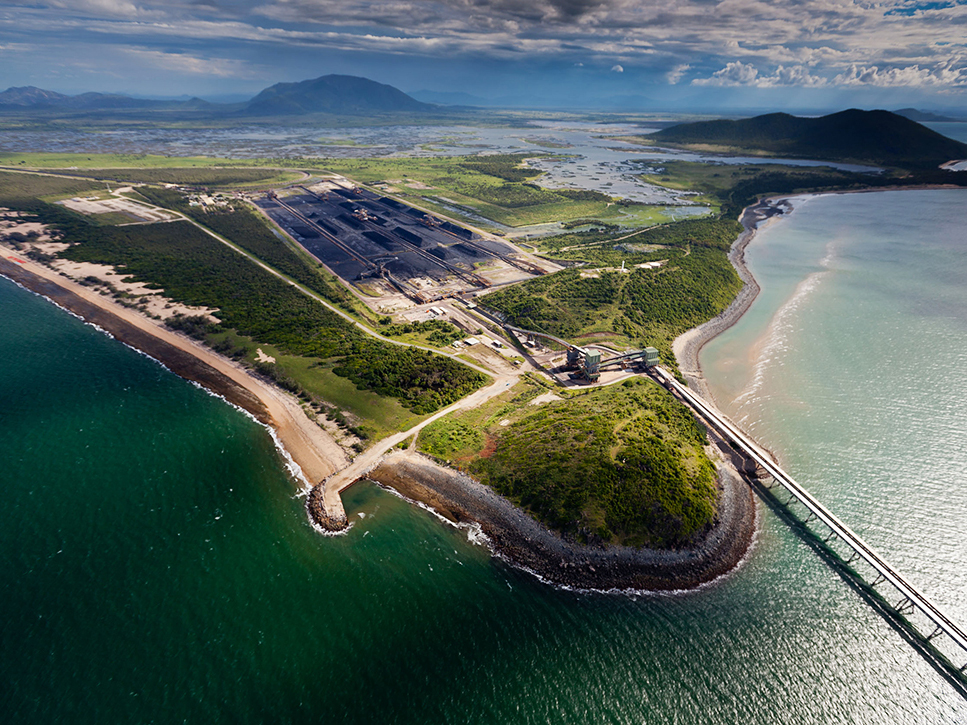 The Abbot Point coal export terminal sits on the edge of the Great Barrier Reef.