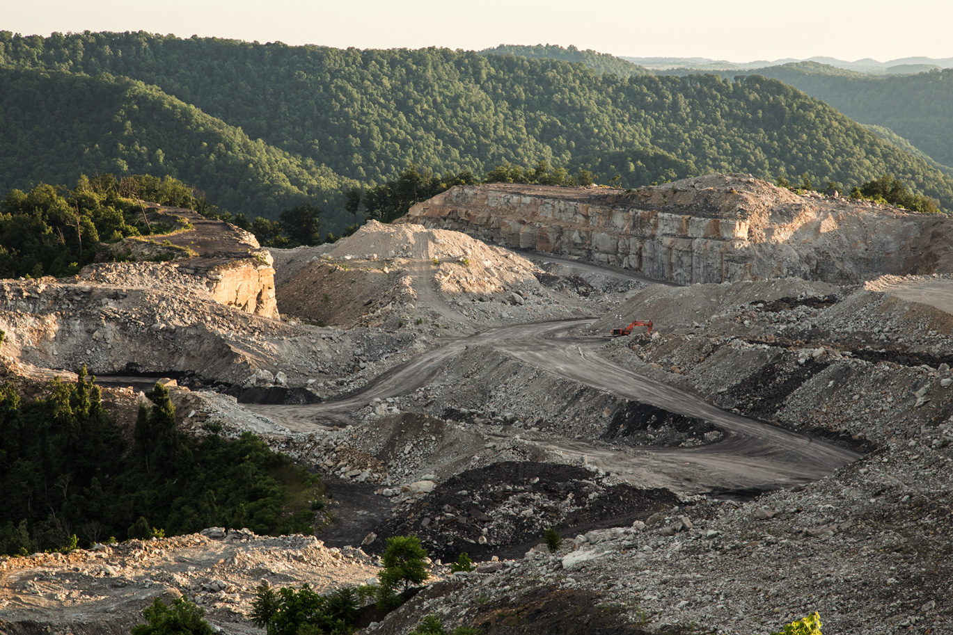 A mountaintop removal mine in West Virginia.